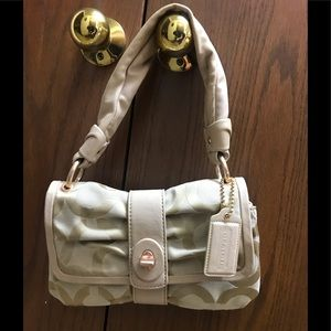 """Coach Purse  11"""" x 7"""" x 3"""" with 14"""" Leather Handle"""